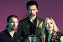 Something For Kate - Clint Hyndman (left), Paul Dempsey and Stephanie Ashworth - will perform their platinum 2001 album, Echolalia, in full at shows in September and October 2021.