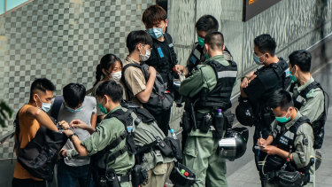 There were more protests in Hong Kong on Wednesday as anger grows over Beijing's new national security laws.