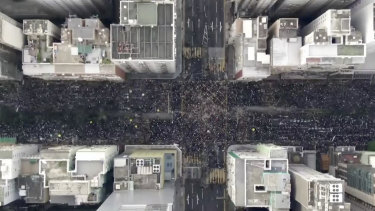 Sunday's two-million strong protest.