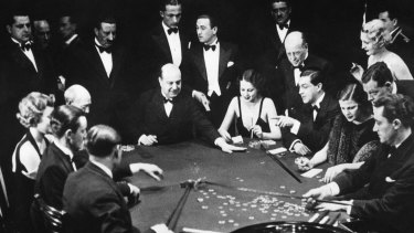 Gambling in Monte Carlo, on the French Riviera, in February 1934.