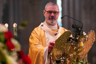 Catholic Archbishop of Melbourne Peter Comensoli at St Patrick's Cathedral.