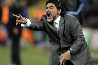 Maradona was the head coach for Argentina's World Cup bid in 2010.