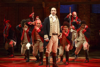 Hamilton creator Lin-Manuel Miranda insisted on green - to represent money - for one of the main character's costumes.