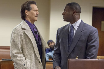 Fictional characters but real circumstances: Kevin Bacon as FBI agent Jackie Rohr and Aldis Hodge as lawyer Decourcy Ward in City on a Hill.