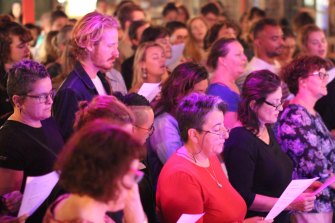 Community choirs have grown in popularity.