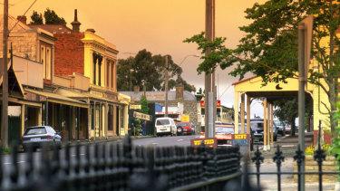 The historic Piper Street in Kyneton.