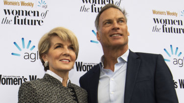 Julie Bishop and David Panton at Wednesday night's event.