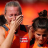Late fightback ends GWS' season as Dees surge into AFLW prelim