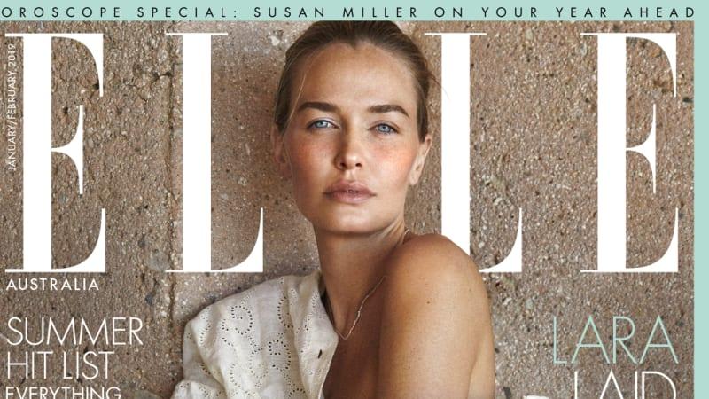 Lara Bingle poses nude for ELLE