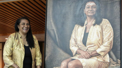 Another first for Nova Peris as portrait unveiled at Parliament