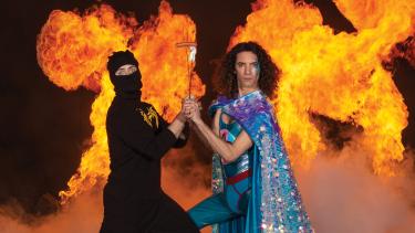 Fire and boyish humour: Ninja Sex Party.
