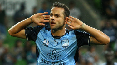 Season to remember: Bobô scooped Sydney FC's player of the year award.