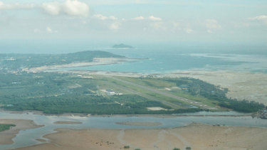 The runway at Natuna Besar's airport.
