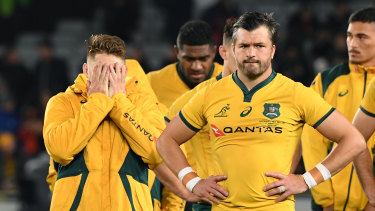 Australia's 36-0 thrashing at Eden Park will mean little on neutral turf, according to Justin Marshall.