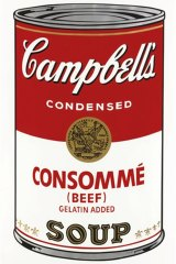 Andy Warhol's Consomme, from Campbell's Soup
