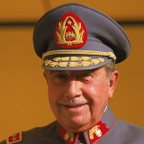 Then president of Chile Augusto Pinochet in 1983.