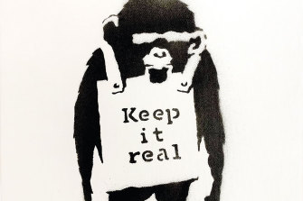Banksy's Keep It Real sold in Auckland for $1.6 million.