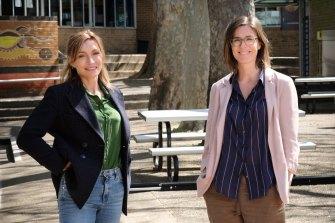Mothers of creation: Claudia Karvan and Kelsey Munro.