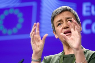 """""""We are concerned that Google has made it harder for rival online advertising services to compete."""": European Commissioner for Competition Margrethe Vestager."""