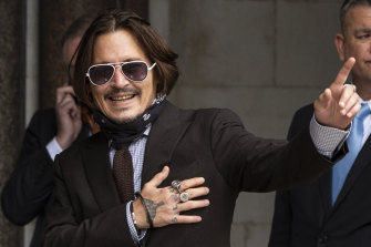 Johnny Depp arrives at court in London on Wednesday.