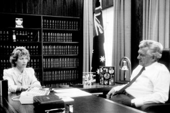 Hawke interviewed by Blanche D'Alpuget in March 1986.