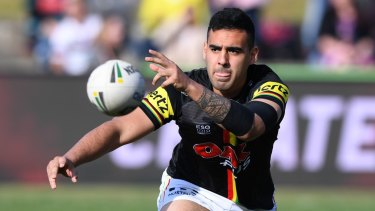 Gobsmacking: Penrith's Tyrone May has been charged over the NRL's sex tape scandal.
