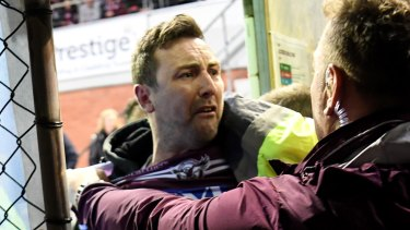 Off-field trouble: Manly could lose a home final at Lottoland after a fan lashed out at Will Chambers.