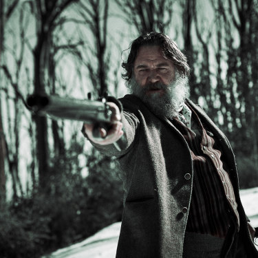 Russell Crowe, who plays the wily old bushranger Harry Power.