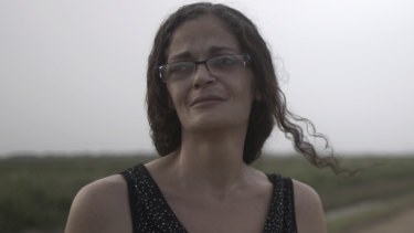 Teresa Gary, mother of one of the eight murder victims, in Stan's Murder in the Bayou.