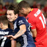 Victory's top-two hopes in tatters after Reds snatch late winner