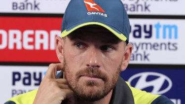 Australian one-day captain Aaron Finch.
