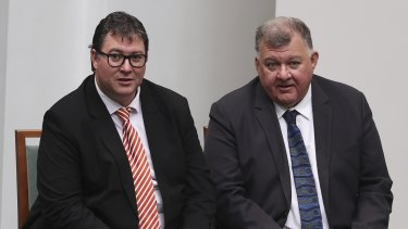 Nationals MP George Christensen and crossbench MP Craig Kelly.