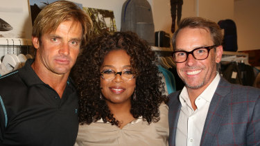 World Surf League chief executive Erik Logan (right) was president of the Oprah Winfrey Network.