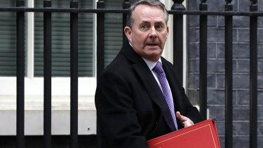 Britain's International Trade Secretary Liam Fox.