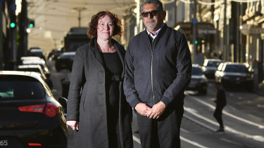 Darren Lovett, manager of family counselling services with VIctorian Aboriginal Health Service, and Yarra Councillor Bridgid O'Brien.