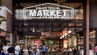 An artists impression of the new markets.