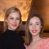Fashion media Lattitia Taylor and Paige McMillan at the Pierre Lannier Australia launch.