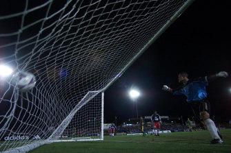 American Samoa keeper Nicky Salapu was in the goal that night.