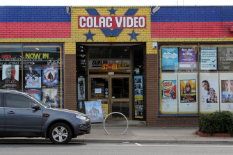 The old Colac video shop.