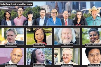 Melbourne's mayoral candidates.