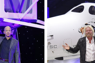 Jeff Bezos and Richard Branson are in a race to take wealthy tourists into space.