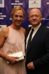 Trainer Heath Conners with wife Amenah at the Geelong Racing Awards.