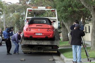 Tony Mokbel's Ferrari, seized in 2001 as part of Operation Kayak.