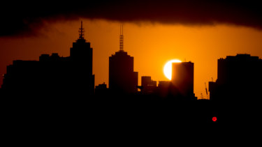 Sun rise over Melbourne has been getting later and later.