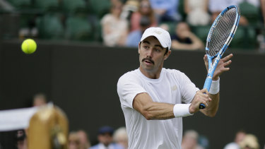 Jordan Thompson led 40-15 in the 11th game but Nick Kyrgios continued to claw his way back.