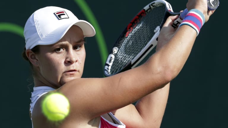 High praise: Ash Barty has recieved strong praise from a competitor, despite falling in South Carolina.