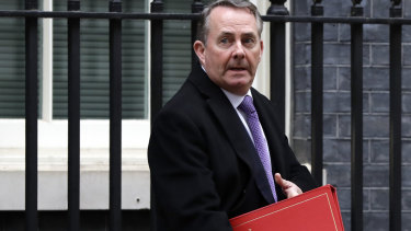 Britain's International Trade Secretary Liam Fox.