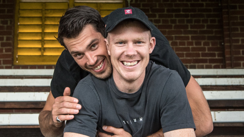 Two of Us with AFL Richmond Tigers' players Alex Rance and Jack Riewoldt
