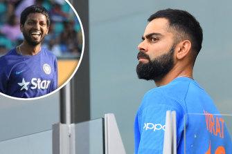 India's throwdown expert D Raghavendra and Virat Kohli