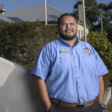 NSW police Aboriginal community liaison officer Jimmahl Williams says he wants young people to be proud of their Indigenous heritage.